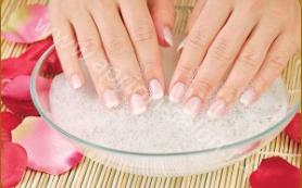 Для крепких ногтей ванночки с морской солью