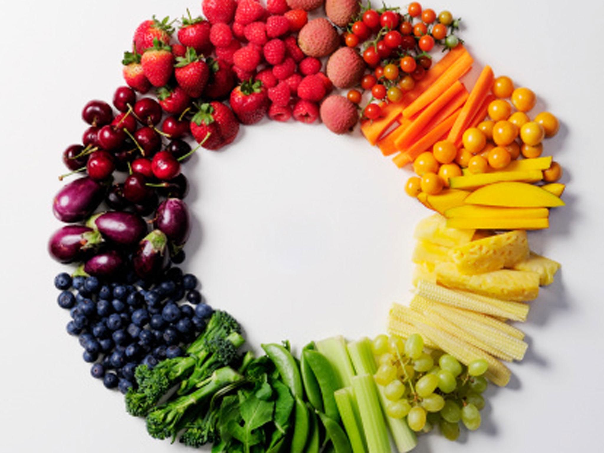 Разноцветная пища вызывает повышенный аппетит