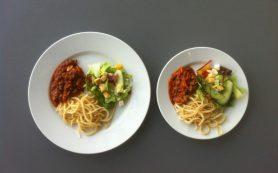 Маленькие порции помогают похудеть