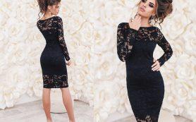 Платье-футляр с кружевом. Мода 2019