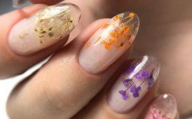 Бьюти-тренд: маникюр с сухоцветами