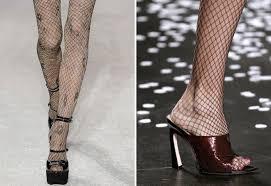 Чулки в сетку – это новая мода?