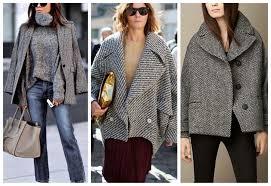 С чем носить короткое женское пальто